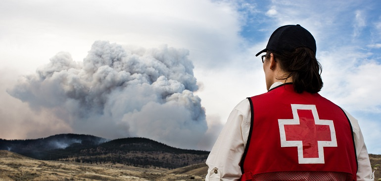 Red Cross appeals for donations to aid those affected by BC wildfires.