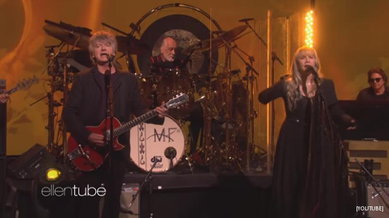 Fleetwood Mac Drop In On Ellen DeGeneres With Their New Lineup