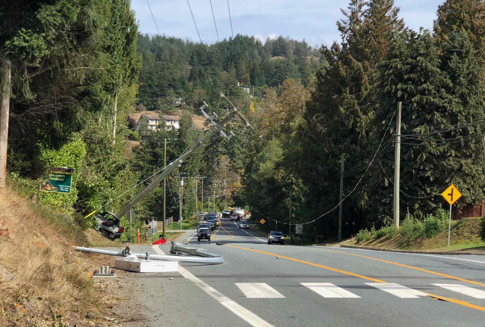Two crashes close down Sooke Road