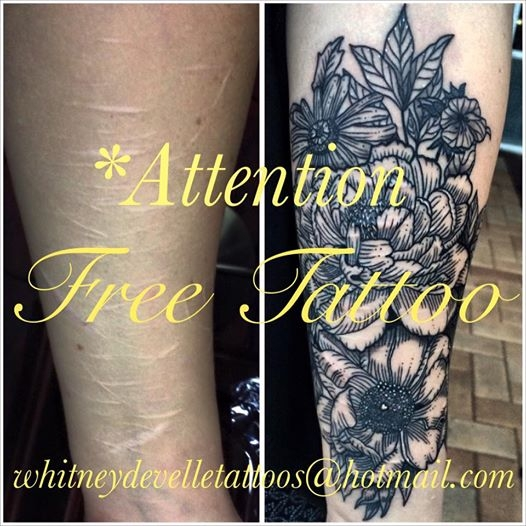 Tattooist Offered Free Tattoos To Those With Self-Harm Scars