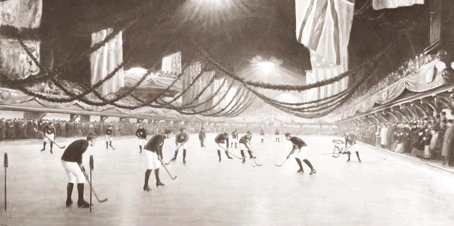 First ever indoor game of ice hockey