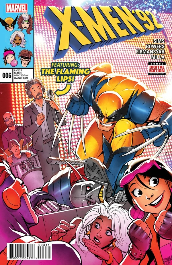 The Flaming Lips to appear in X-Men '92 comic!