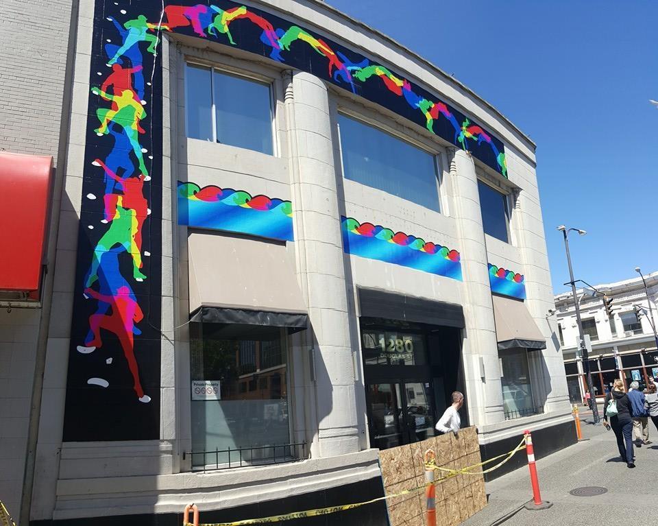 New Mural on Douglas St Building
