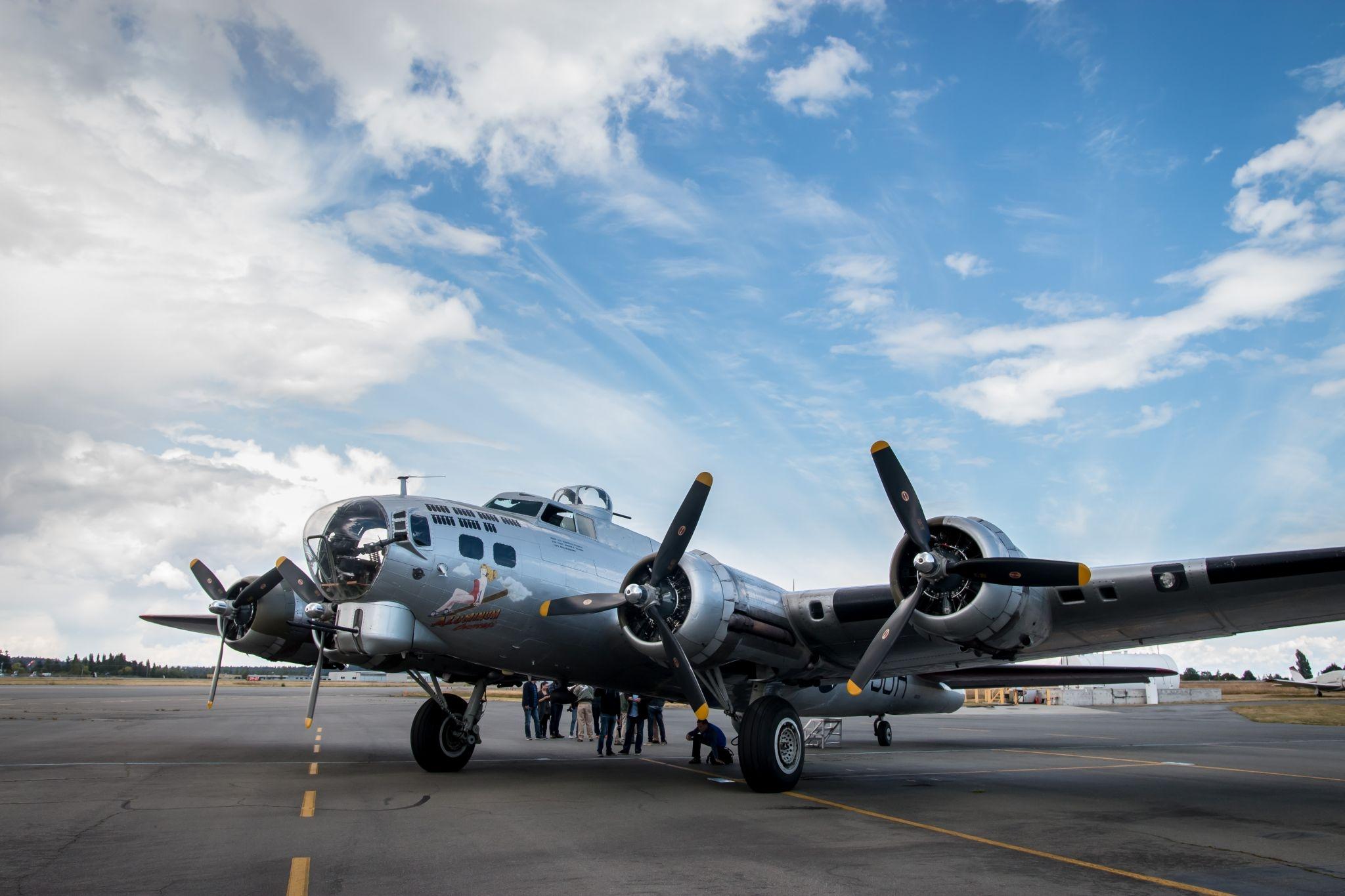 Jason and Jenny fly on a B-17 bomber!