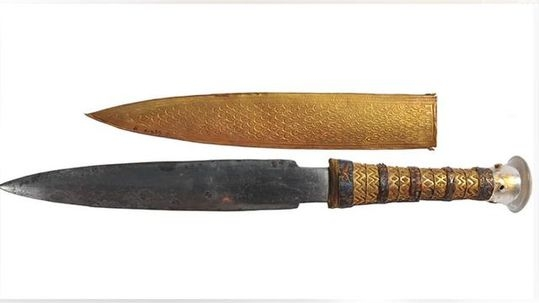 KING TUT'S DAGGER MADE FROM METEORITE