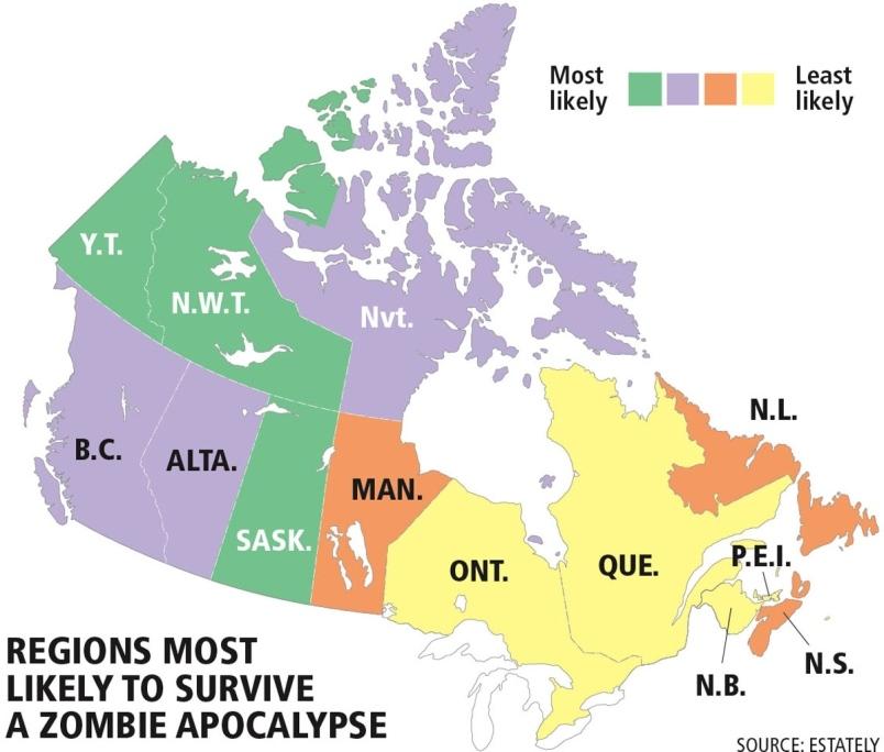Zombie in Canada Apocalypse - RANKED!