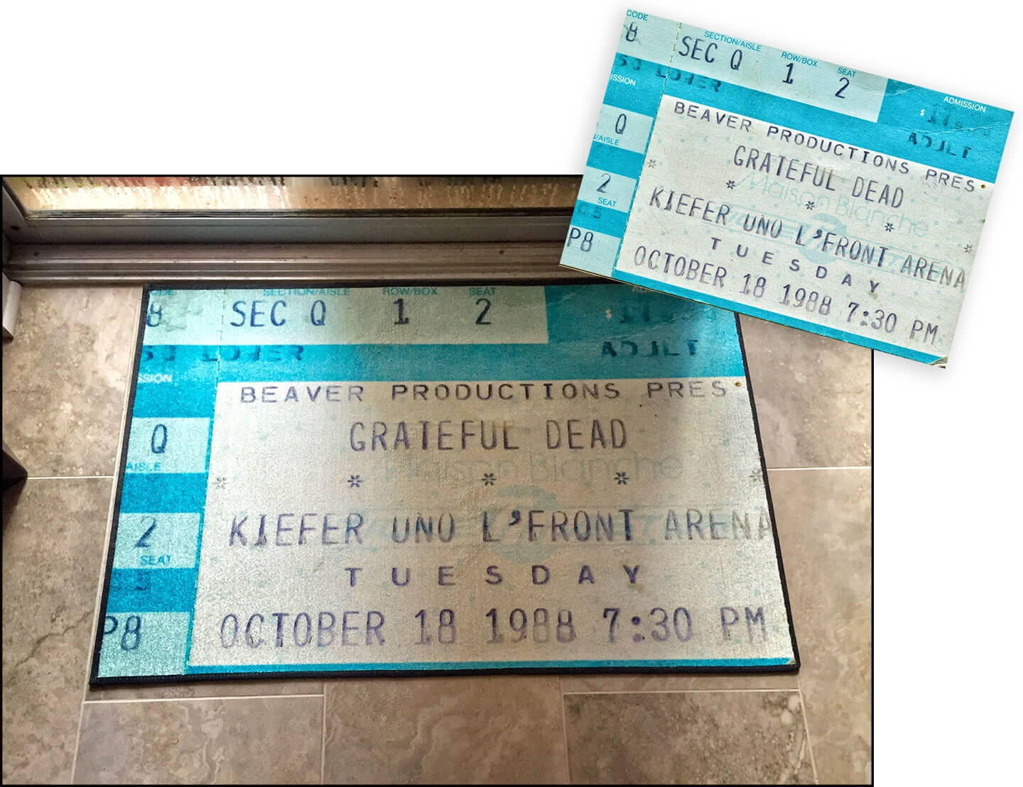 This is a great way to display your concert ticket stubs