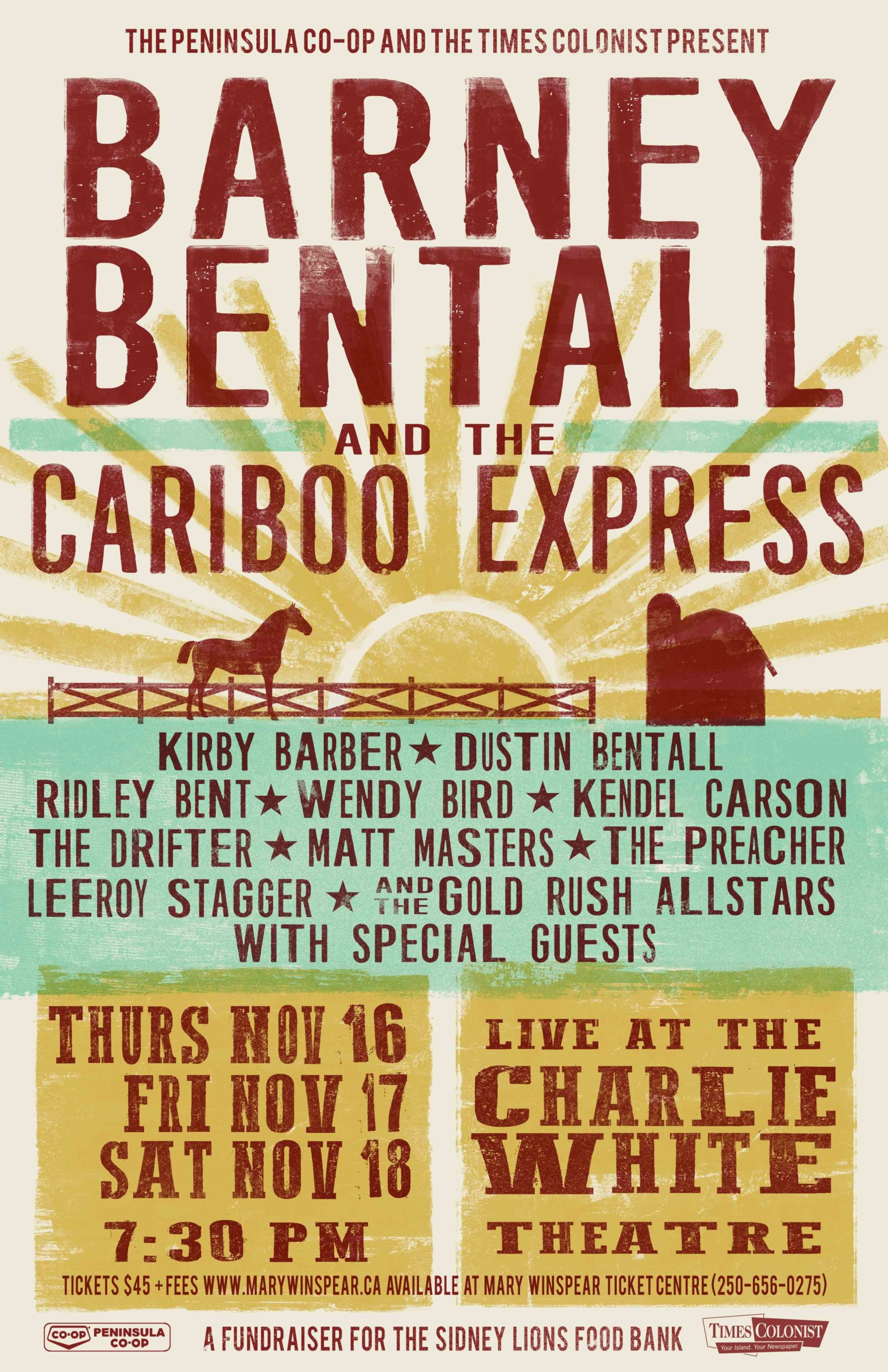 Barney Bentall and the Cariboo Express   The Zone @ 91-3