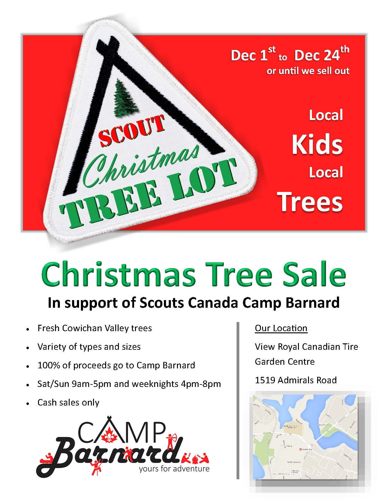 Scouts Canada Camp Barnard Christmas Tree Fundrais   The Zone @ 91-3