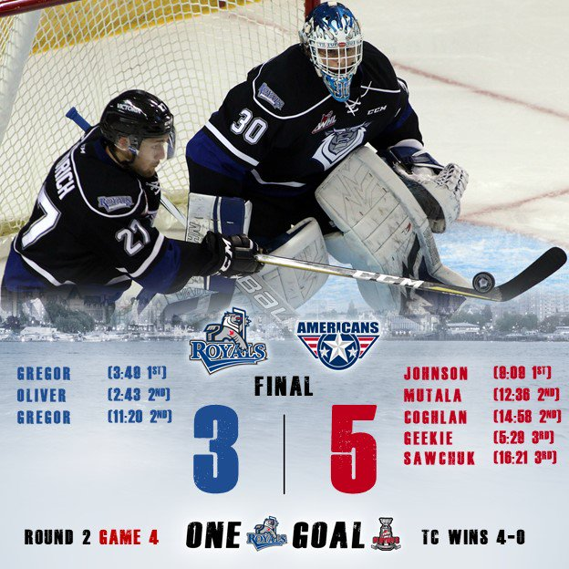 Royals Swept In Round 2 By Americans