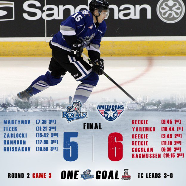 Royals Edged 6-5 Against Americans Tuesday