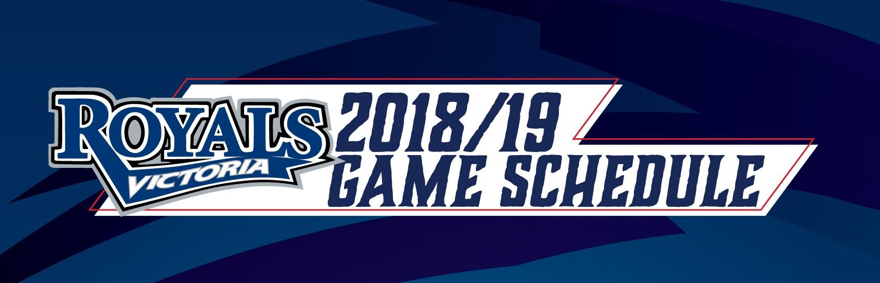 Royals Announce 2018-19 Schedule