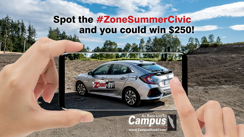 Spot The Civic and WIN $250 Cash!