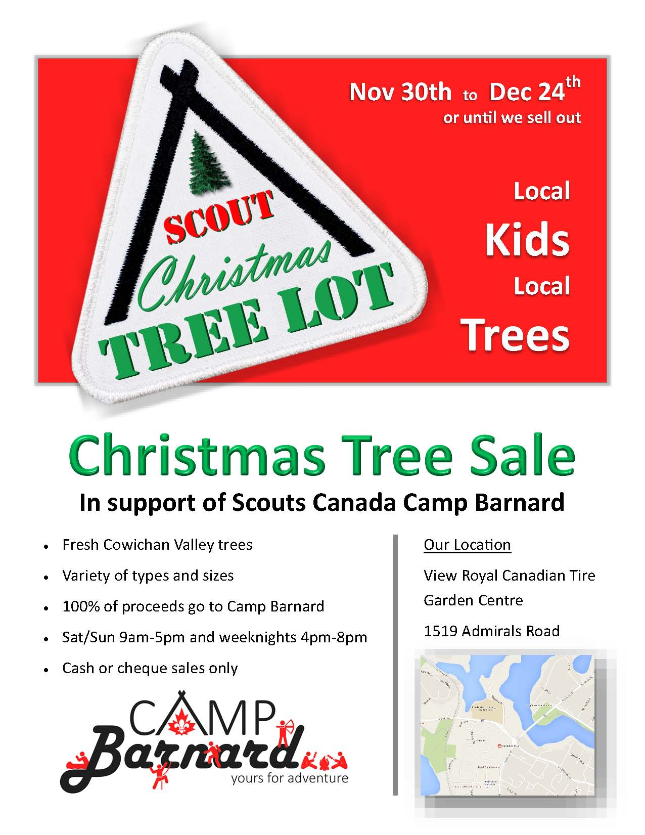 Events The Zone 91 3 To Install New Circuits For Christmas Lights Root Electric Services View Royal Canadian Tire Garden Centre At 1519 Admirals Victoria Bc Scouts Canada Camp Barnard Tree
