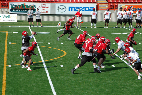 The Calgary Stampeders optimistic about Friday's game