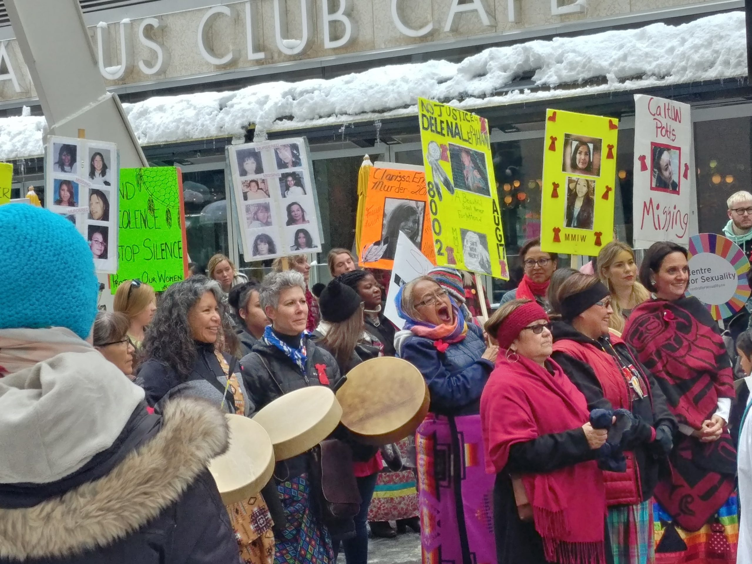 First Nations members march for injustice