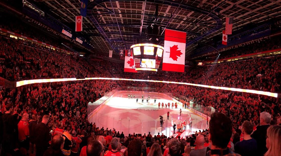 Frolik and 3M Line lead Flames past Bruins