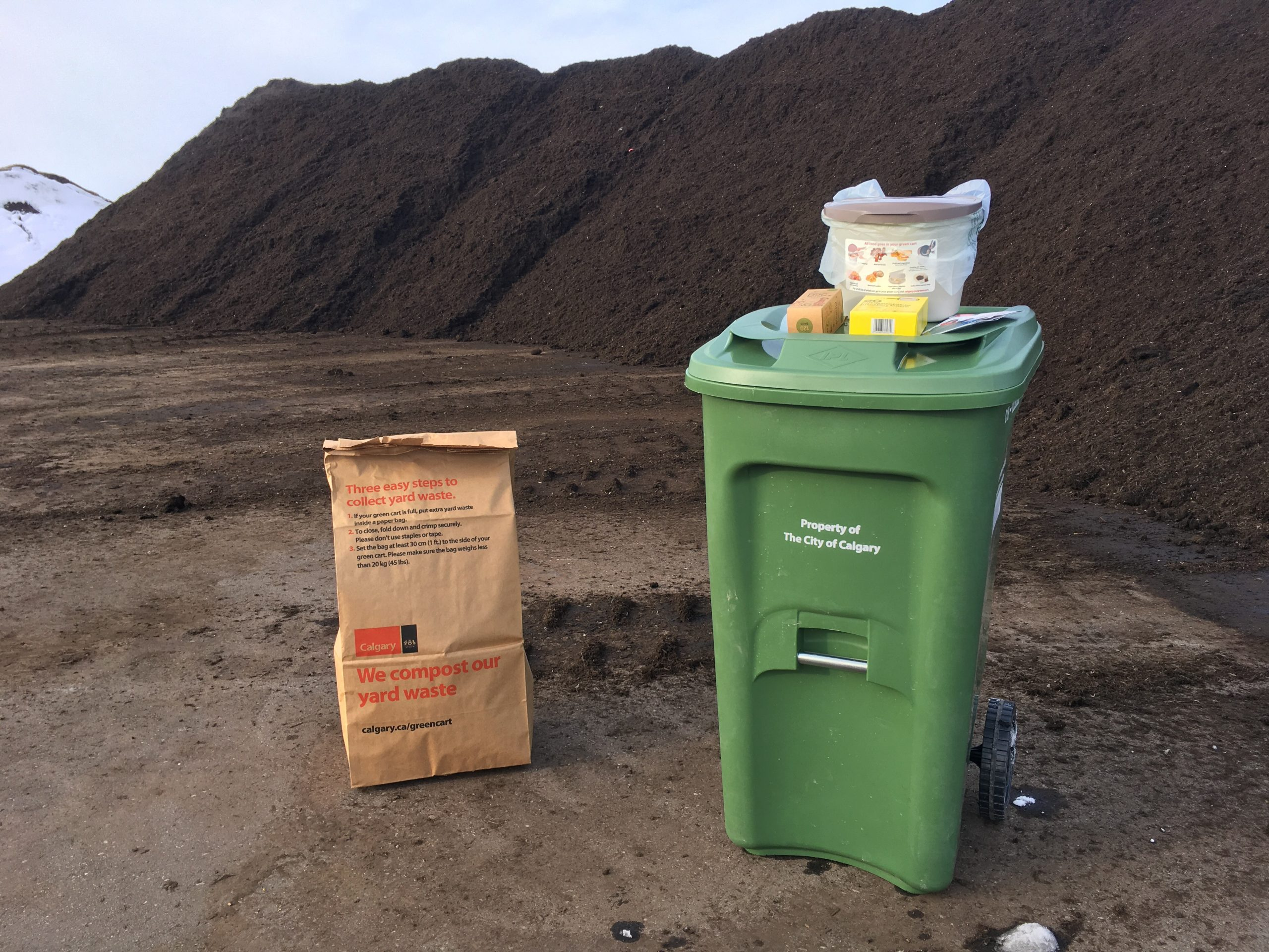 111 million kilograms of waste collected from green carts in one year