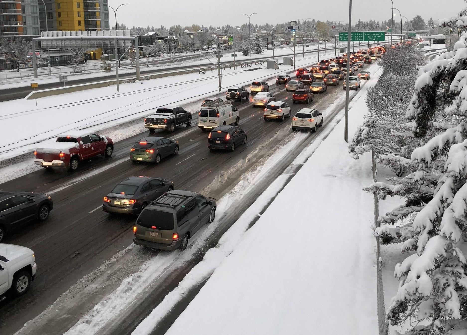 Alberta highways face closures after massive snowfall