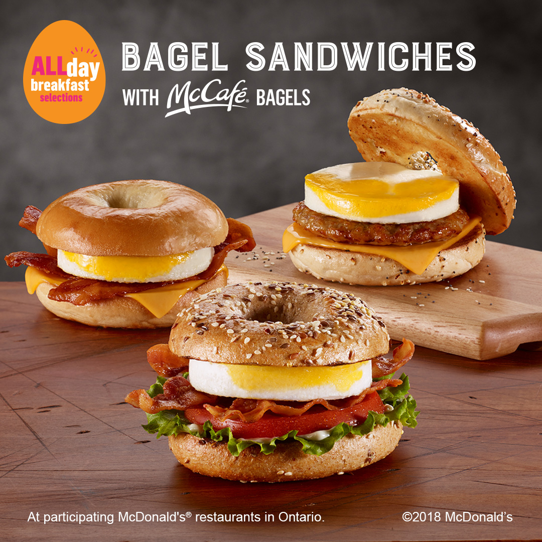 The All-Day Bagel Sandwich at McDonald's!