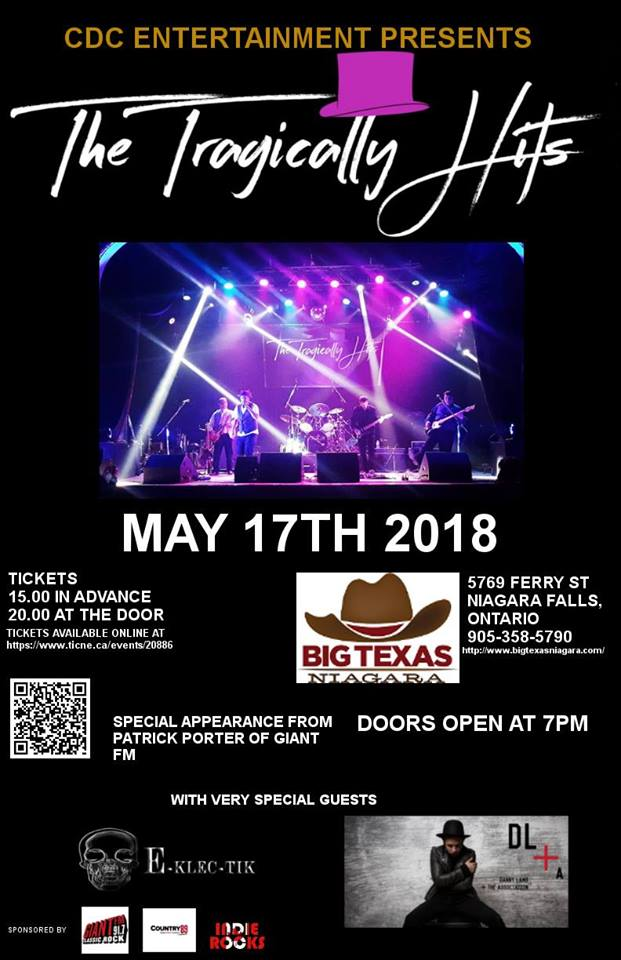 See the Tragically Hits Tribute Band with Pat Porter!