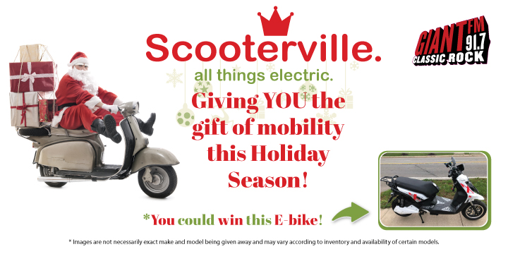 Feature: https://www.giantfm.com/scooterville-holiday-giveaway/