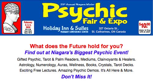 25th Annual Niagara Winter Psychic Fair & Expo