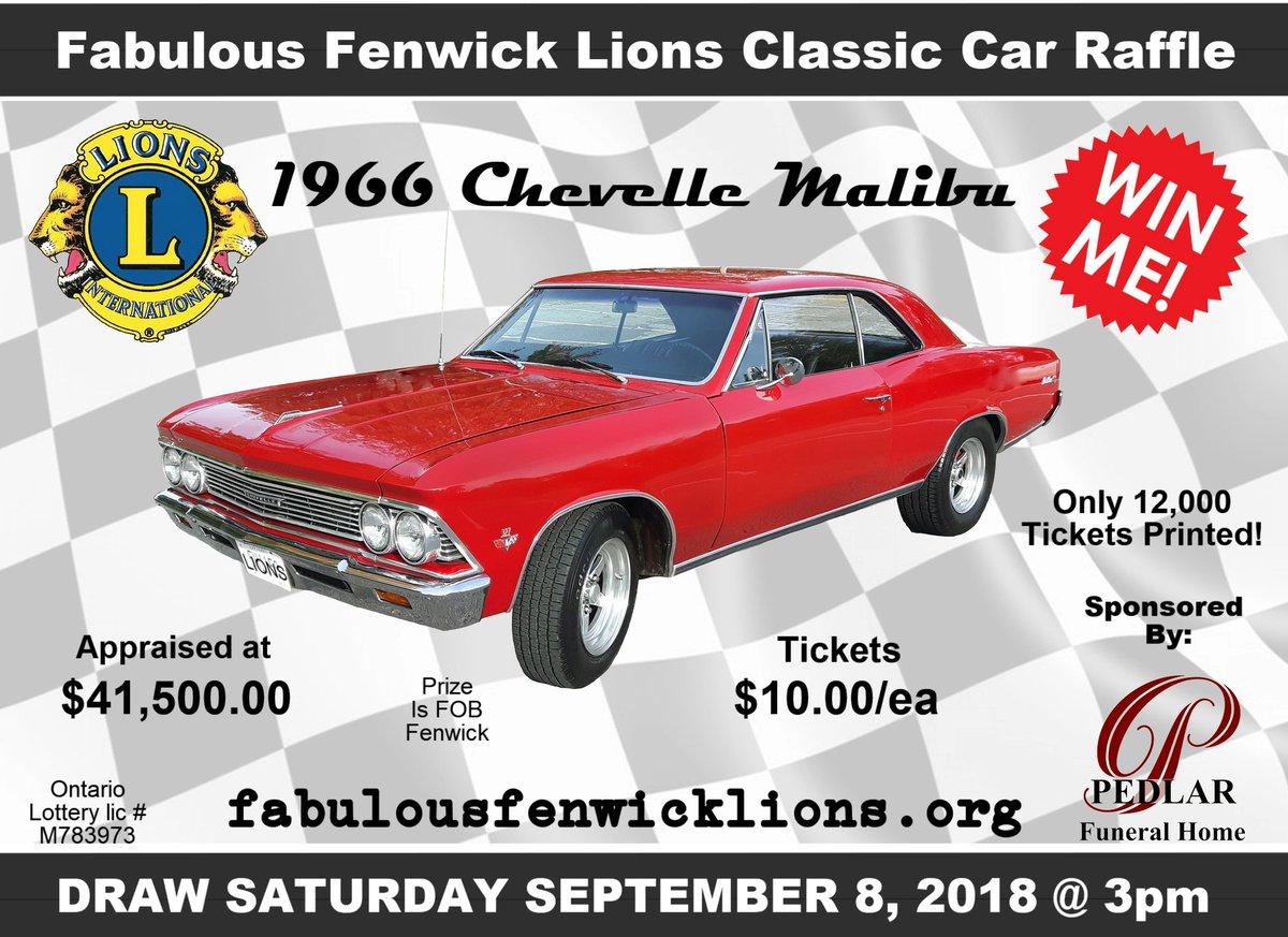 Fabulous Fenwick Lions Classic Car Raffle