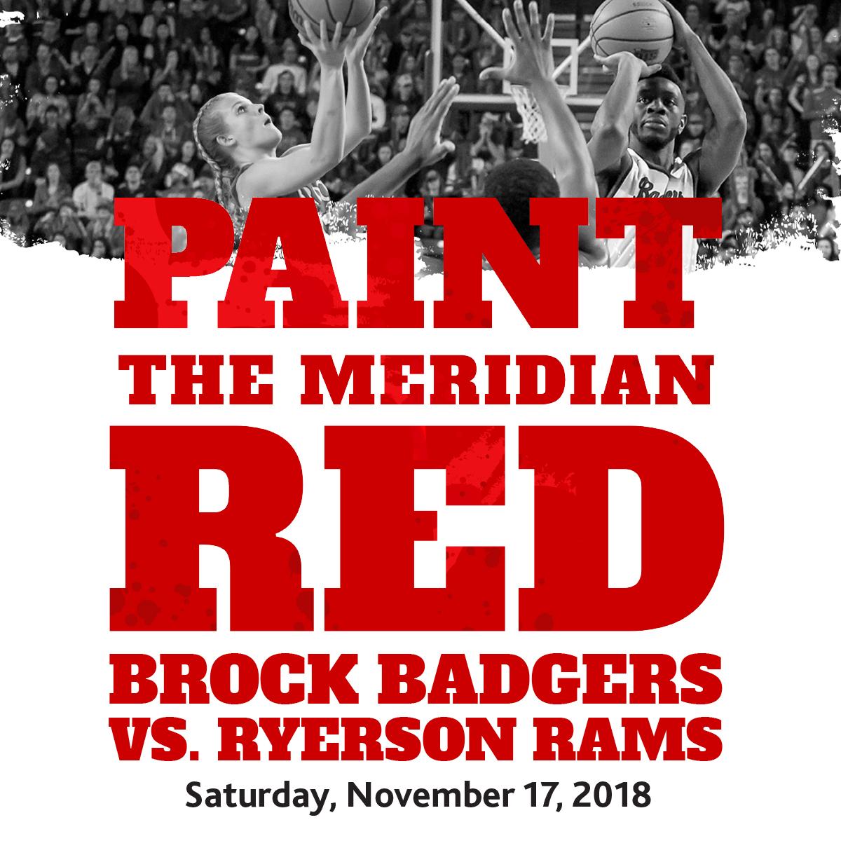 Brock Badgers – Paint The Meridian Red