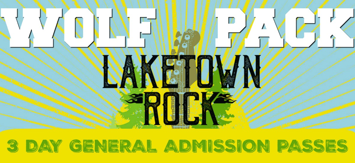 Laketown Rock 3-Day Pass WOLFPACK ONLY
