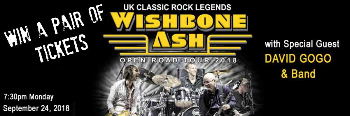 WIN Tickets To Wishbone Ash and David Gogo