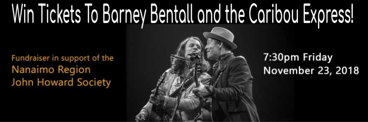 Win Tickets To Barney Bentall and The Caribou Express!