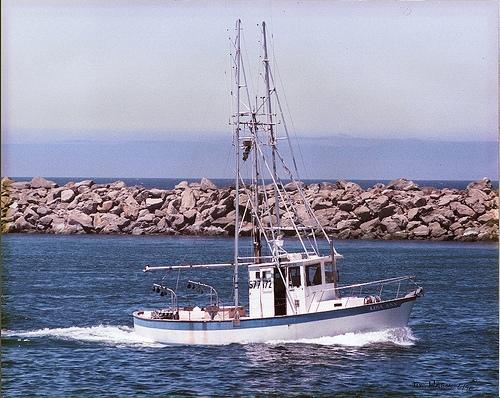 Sunken Trawler Near Powell River