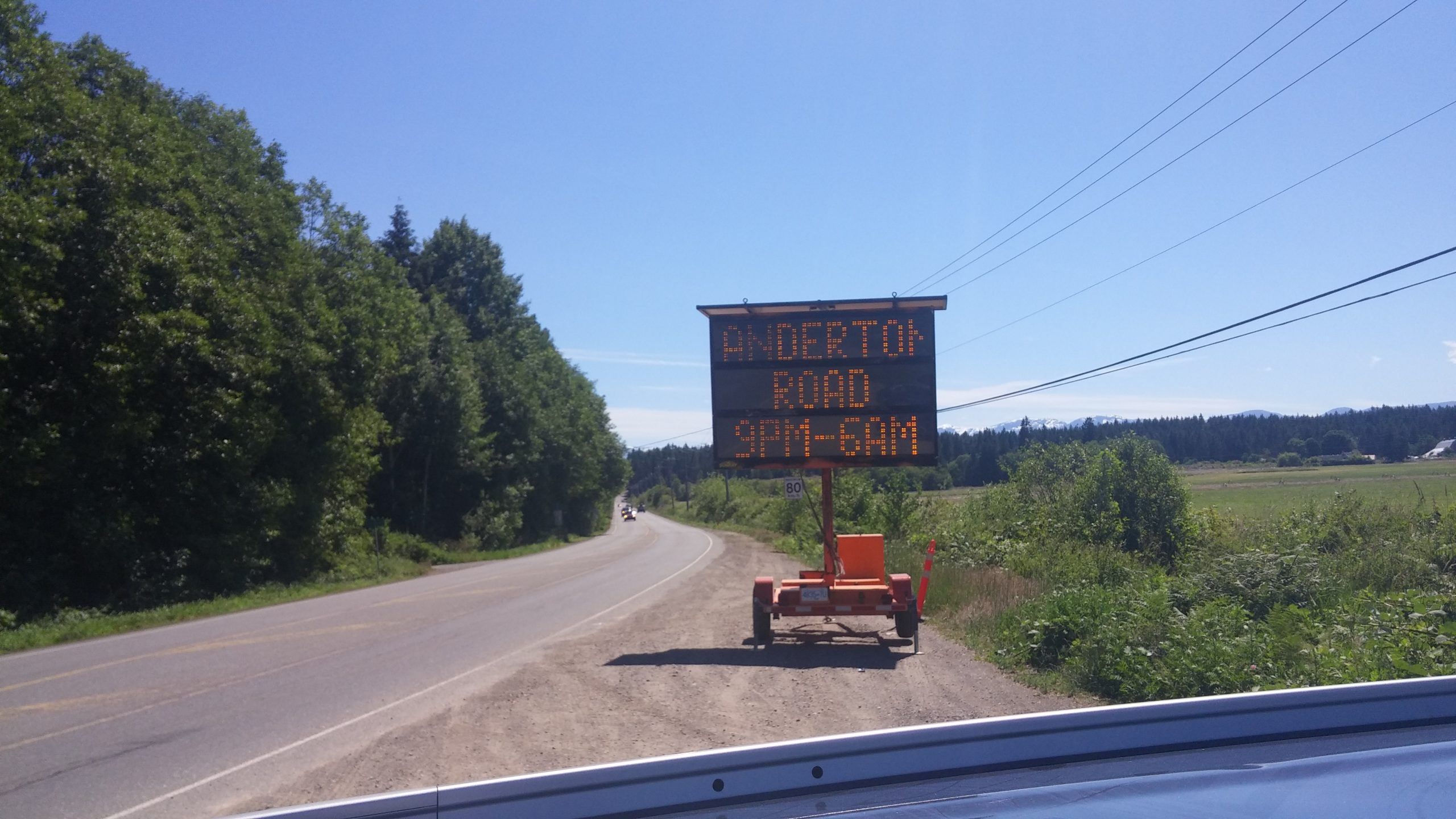 Expect Traffic Delays in the Comox Valley