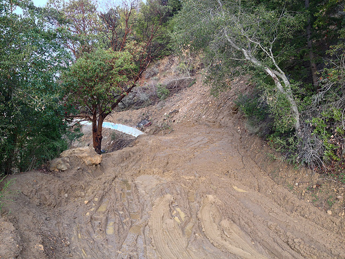 Mudslide Damages House