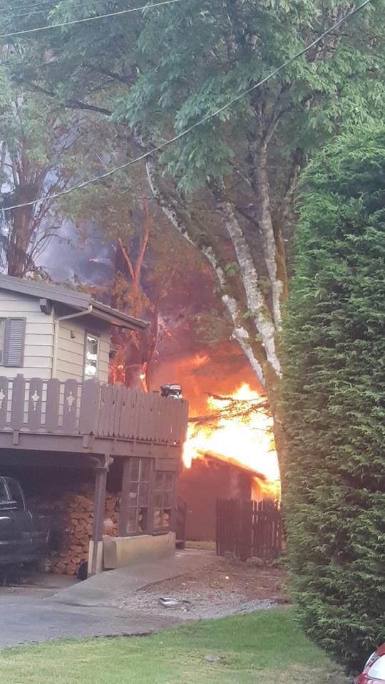 Comox House Fire