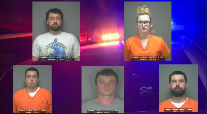 Five more charged in Shawano County drug conspiracy case