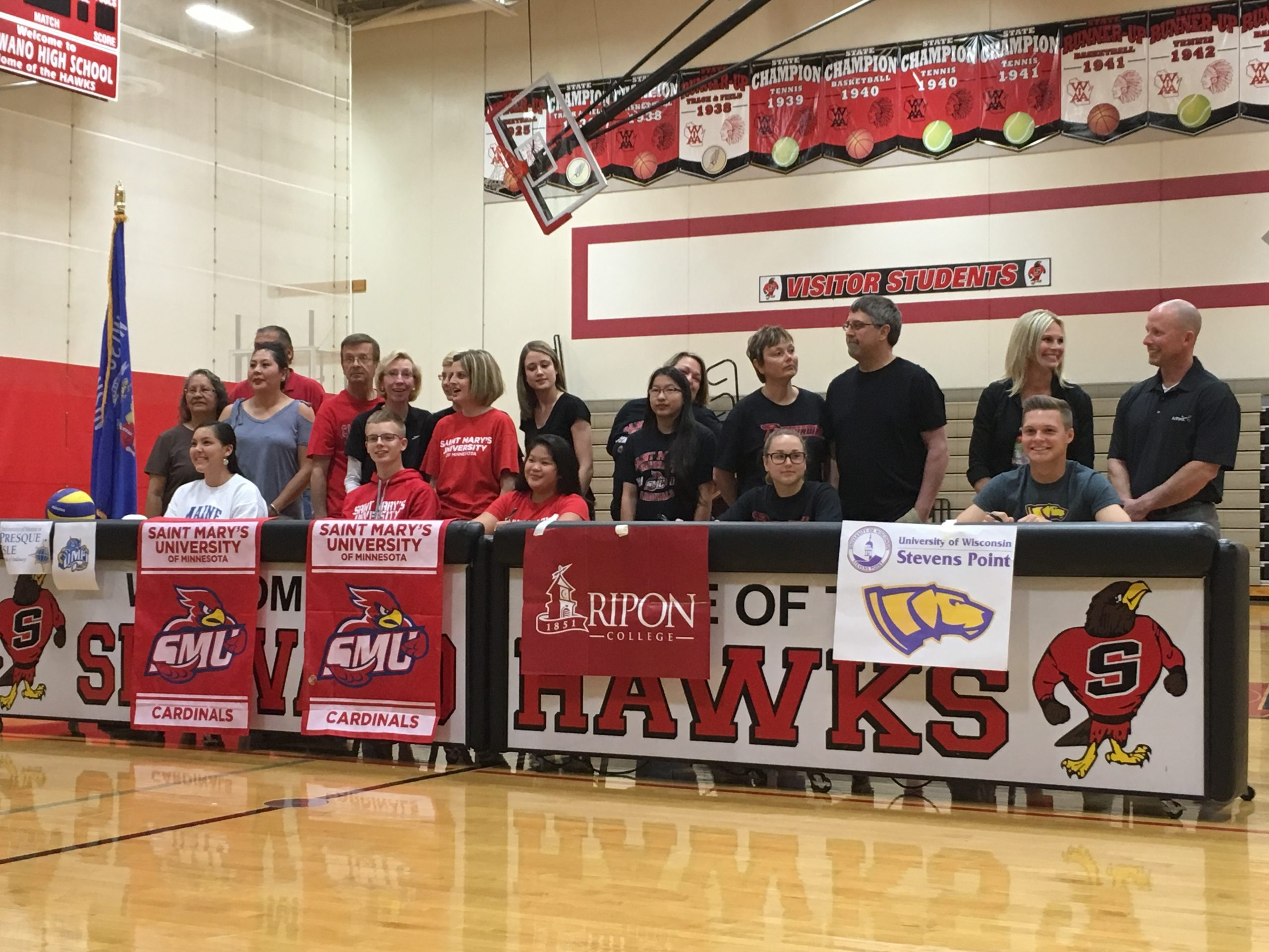 Shawano High School recognizes five student-athletes during Spring Signing Day