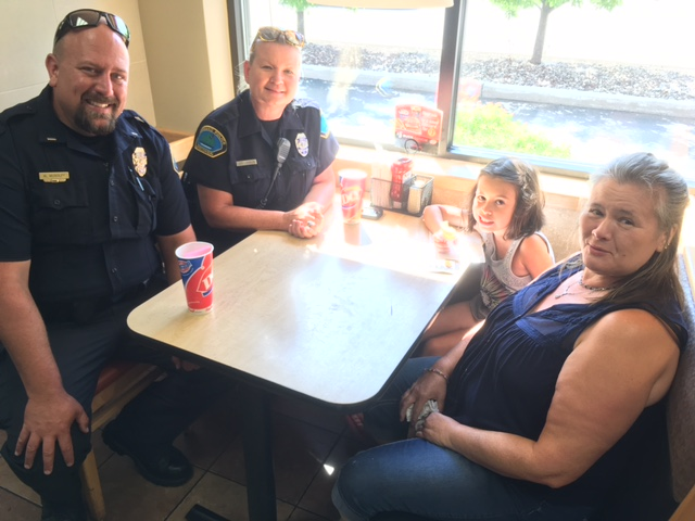 Ice Cream Draws In Crowd To Meet Law Enforcement