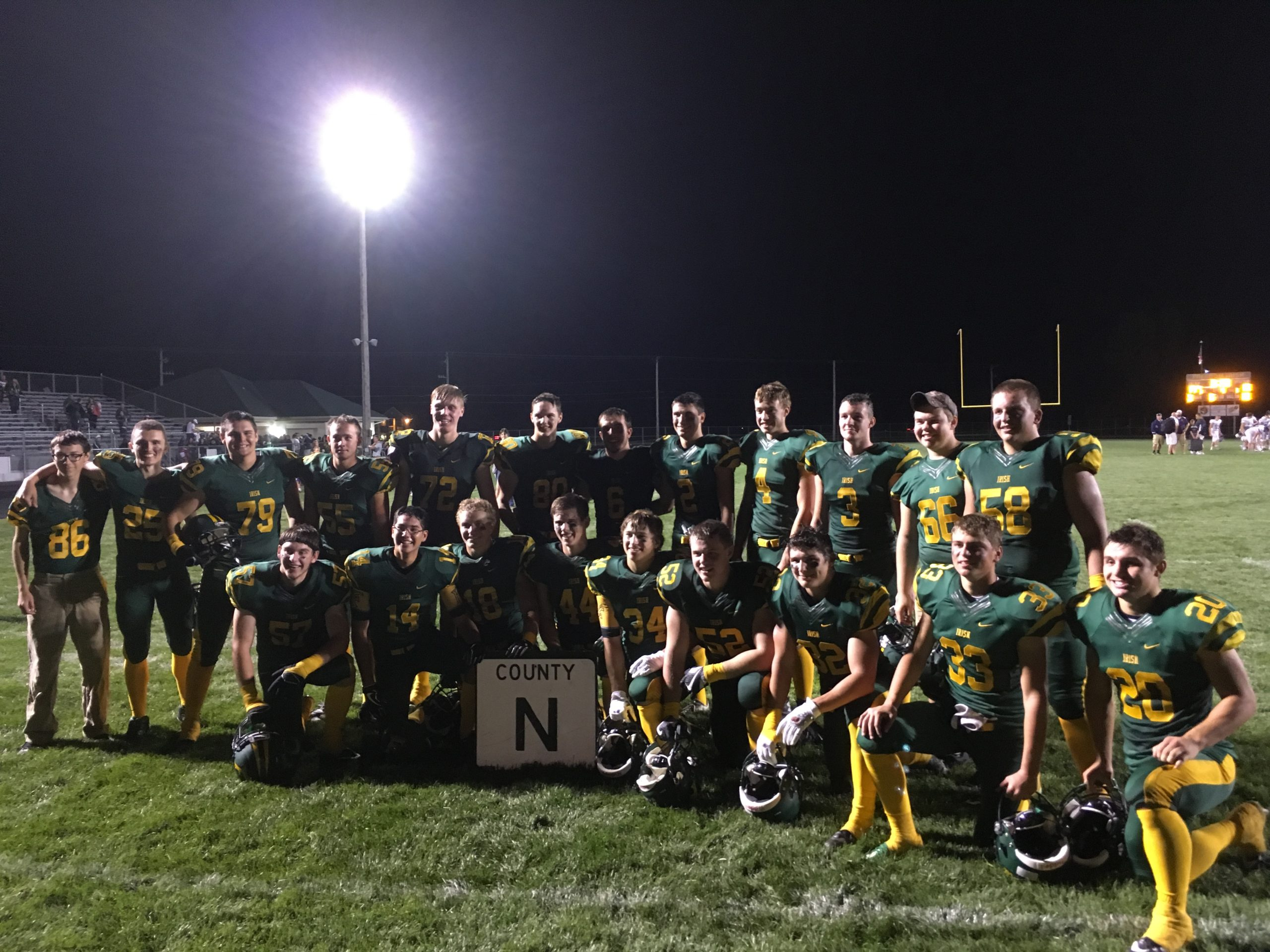 "Freedom avenges playoff loss, County Highway ""N"" goes back to the Irish"