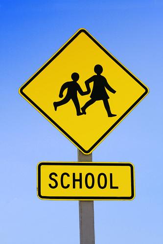 Vehicle Hits School