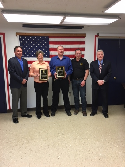 Optimist Club recognizes two officers and a dog