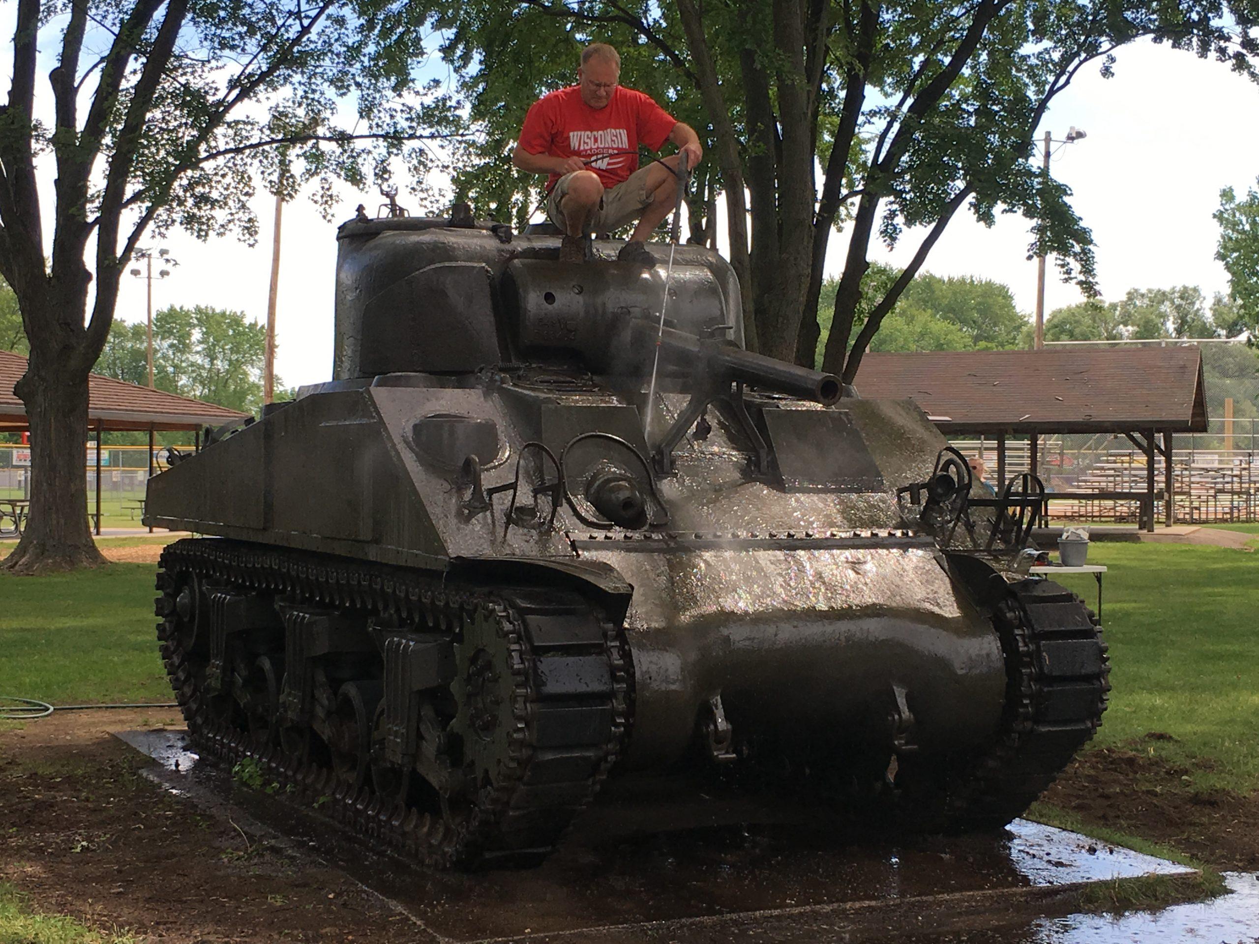 Tank Restoration in Memorial Park Started Today