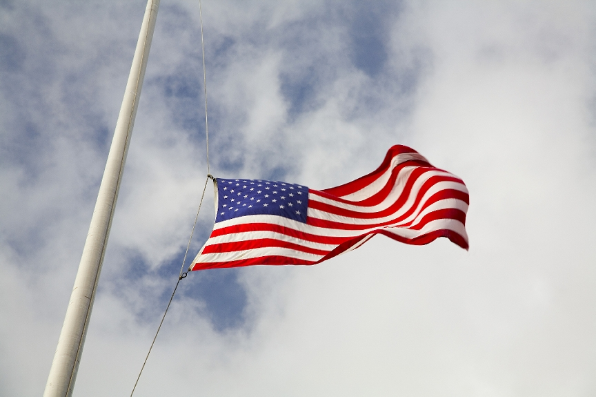 Flags to be at Half-Staff today