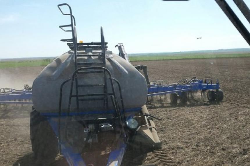 Seeding ahead of Sask. average: crop report