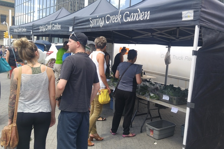 Regina Farmers' Market vendors dealing with dry summer