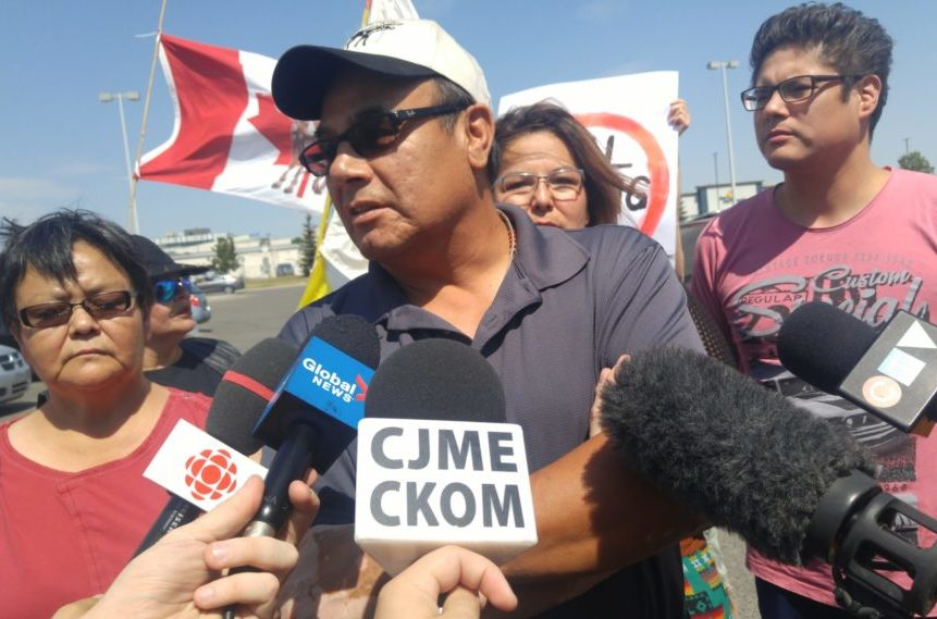 Protest outside Canadian Tire over alleged racial profiling