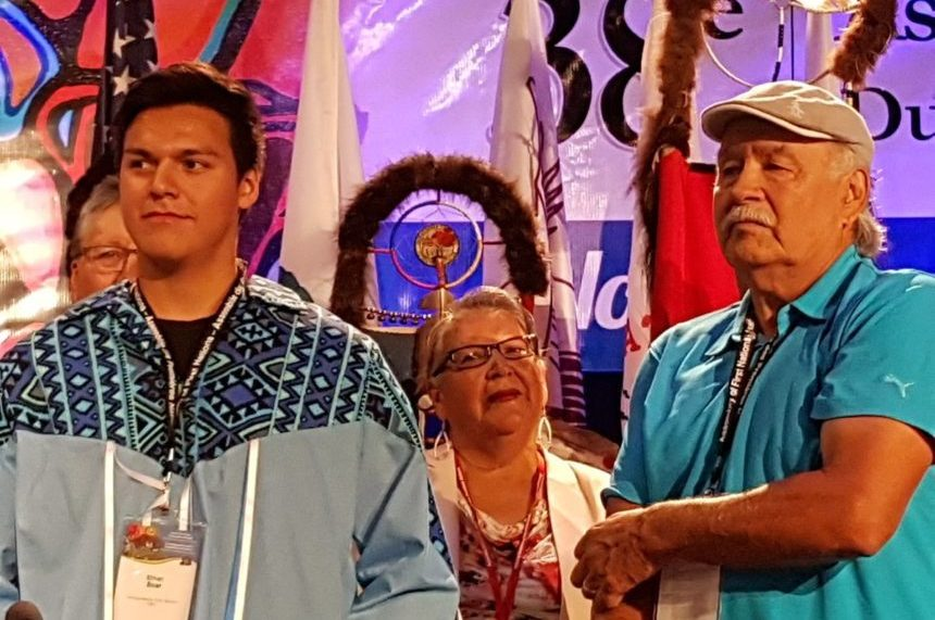 Hockey player Ethan Bear honoured by AFN