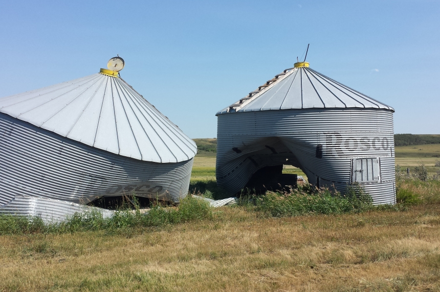 RCMP look for suspect who drove through grain bins