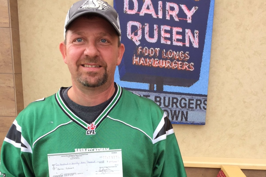 Rider fan with young family wins huge 50/50 jackpot